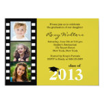 2013 Film Strip Graduation Invitation 3 Photo Gold