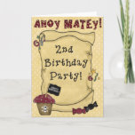 2nd Pirate Birthday Invitations