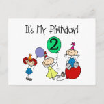 2nd Stick Kids Party Birthday Tshirts and Gifts Invitation Postcard