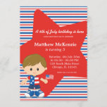 4th of July birthday boy Invitation