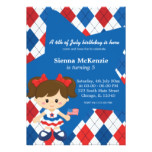 4th of July birthday girl Card