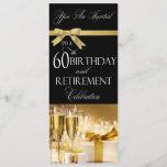 60th Birthday Retirement Combination Invitation