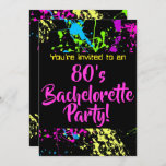 80s Bachelorette Party Invitation