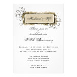 Abstract Floral Wedding Anniversary Party Invite