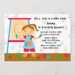 Art & Craft Birthday Party Invitation