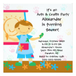 Arts & Crafts Birthday Party Card