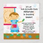 Arts & Crafts Birthday Party Invitation