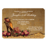Autumn Roses and High Heels Birthday Card