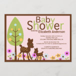 Baby Deer Girl Baby Shower Invitation
