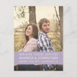 Banner Photo Lavender Save The Date Post Cards
