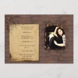 Barn Wood Beauty Graduation Announcement