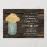 barnwood yellow mason jar Housewarming Invite