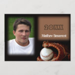 Baseball and Glove Graduation Announcement