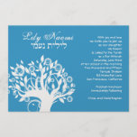 Bat Mitzvah Invitation Lily Naomi Tree Blue