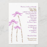 Bat Mitzvah Invitation Watercolor Flowers