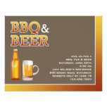BBQ & Beer Party Flat Invitation