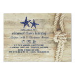 Beach Driftwood Nautical Navy Rehearsal Dinner Invitation