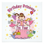 Birthday Princess I'm Four T-shirts and Gifts Card