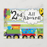Birthday Train 2nd Birthday Party Invites
