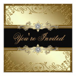 Black and Gold Black Tie Party Invitation