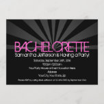 Black Fashion Lights Bachelorette Party Invitation