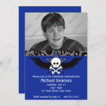 Blue and Black Teen Birthday Invitation