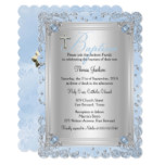 Blue Sparkle Jewel Baptism Christening 2 Card