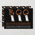 Boo cute ghosts modern Halloween party Invitation