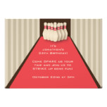 Bowling Alley Party Invitation