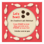 Bowling Ball Pin and Frames Party Invitation