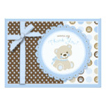 Boy Teddy Bear Thank You Card