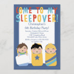 BOYS Sleepover Birthday Party Inviation Invitation
