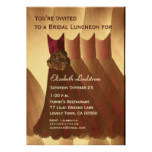 Bridesmaid Brunch Chocolate Gold Dresses Metallic Card