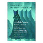 Bridesmaid Brunch Teal Green Dresses Metallic Card