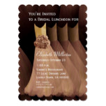 Bridesmaid Luncheon Brunch Golden Tan Dresses V05 Card