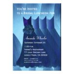 Bridesmaid Luncheon or Brunch Blue Dresses G569 Card