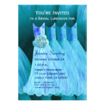 Bridesmaid Luncheon or Brunch Blue Dresses V05 Card
