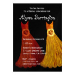 Bridesmaid Luncheon or Brunch Fall Dresses S001 Card