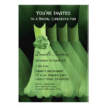 Bridesmaid Luncheon or Brunch Green Dresses V03A Card