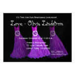 Bridesmaid Luncheon or Brunch Royal Purple Dresses Card