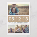 Brown Squared Photo  Save The Date Invites