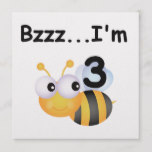 Buzz Bumblebee 3rd Birthday T-shirts and Gifts Card