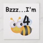 Buzz Bumblebee 4th Birthday T-shirts and Gifts Card