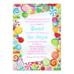 Candyland Candy Theme Bat Mitzvah Invitation