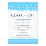 Cap & Gown 2011 Graduation Announcement (aqua)