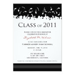 Cap & Gown 2011 Graduation Announcement (black)