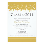 Cap & Gown 2011 Graduation Announcement (gold)