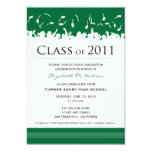 Cap & Gown 2011 Graduation Announcement (green)