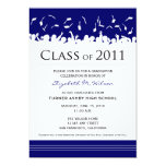 Cap & Gown 2011 Graduation Announcement (navy)