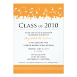 Cap & Gown 2011 Graduation Announcement (orange)